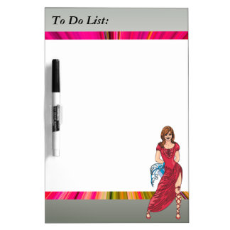Girl and Gifts To Do List Dry Erase Board