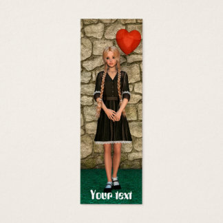 Girl and Heart Mini Business Card