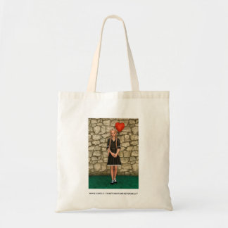 Girl and Heart Tote Bag