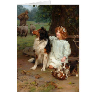 Girl and Her Collies, Card