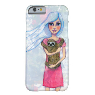 Girl and Her Sloth Barely There iPhone 6 Case