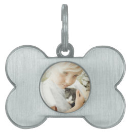 Girl and Kitten Pet Tag