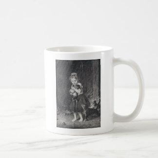Girl and Kittens Coffee Mug