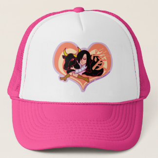 Girl and Ox Trucker Hat