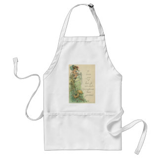 girl and pigs with excuse adult apron