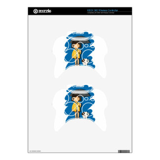 Girl and puppy in the rain xbox 360 controller skin