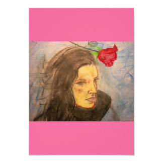 girl and rose card