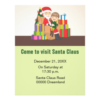 Girl and Santa Claus Personalized Flyer