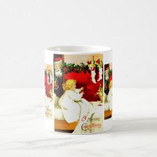 Girl and Santa Coffee Mug