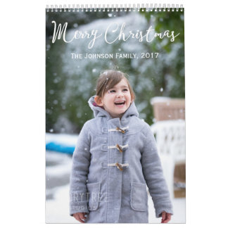 Girl And Snow Christmas 2017 Personalized Calendar