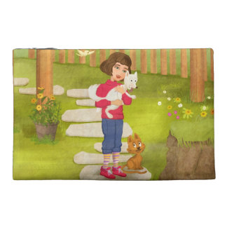 Girl and the funny Doggy Bagettes Bag Travel Accessories Bag