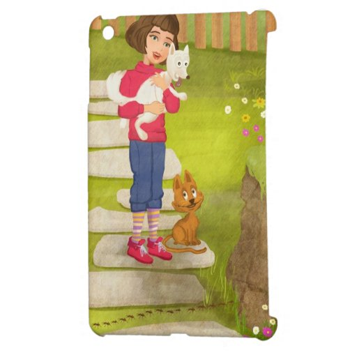 Girl and the funny Doggy iPad Mini Case