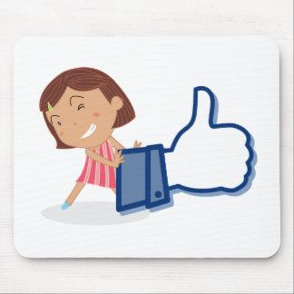 Girl and thumb mouse pad