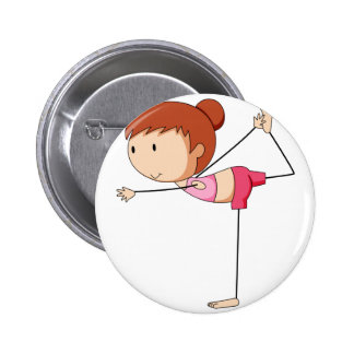 Girl and Yoga 2 Inch Round Button