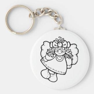 Girl Angel Keychain