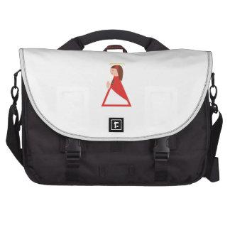 Girl Angel Laptop Messenger Bag