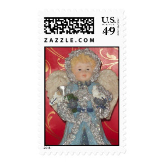 Girl Angel With Wings Postage Stamp