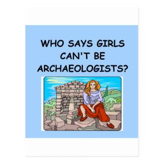 GIRL archaeologist Postcard
