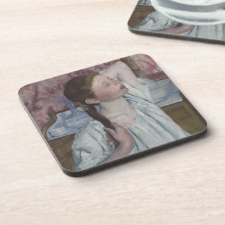 Girl Arranging Her Hair, 1886 (oil on canvas) Beverage Coasters