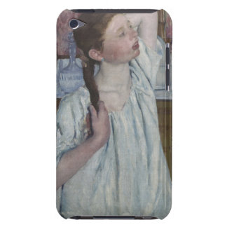 Girl Arranging Her Hair, 1886 (oil on canvas) iPod Touch Case