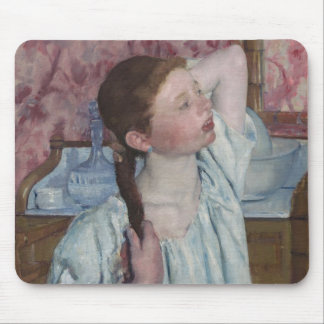 Girl Arranging Her Hair, 1886 (oil on canvas) Mouse Pad