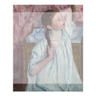 Girl Arranging Her Hair by Mary Cassatt Flyer