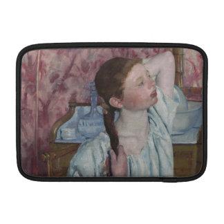 Girl Arranging Her Hair by Mary Cassatt MacBook Air Sleeve