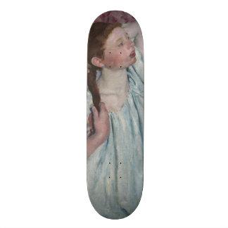 Girl Arranging Her Hair by Mary Cassatt Skateboard