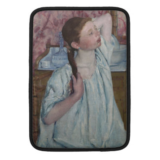 Girl Arranging Her Hair by Mary Cassatt Sleeves For MacBook Air
