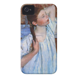 girl arranging her hair iPhone 4 Case-Mate cases