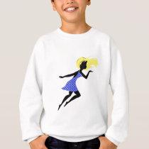 girl art design pattern sweatshirt
