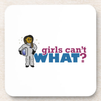 Girl Astronaut 2 Beverage Coaster