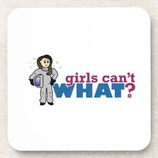 Girl Astronaut Beverage Coaster