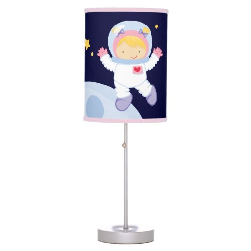 Girl Astronaut Kids Table Lamp