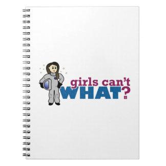 Girl Astronaut Spiral Note Books