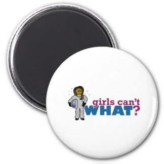 Girl Astronauts 2 Inch Round Magnet