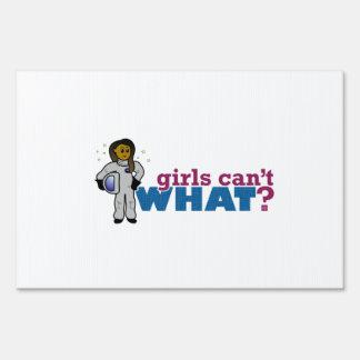Girl Astronauts Yard Signs