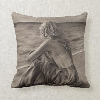 Girl at beach American MoJo Pillow