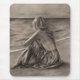 Girl at beach Mousepad