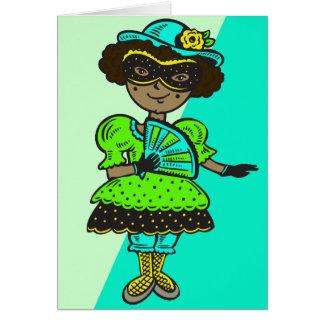 Girl At Masquerade Ball Card