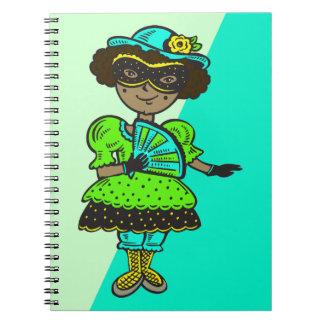 Girl At Masquerade Ball Notebook