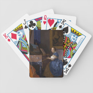 Girl at the Piano Bicycle Playing Cards