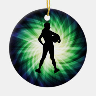 Girl Athlete; Cool Double-Sided Ceramic Round Christmas Ornament
