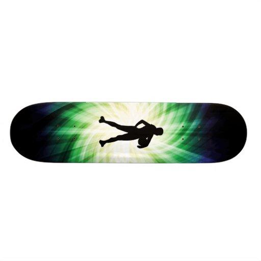 Girl Athlete; Cool Custom Skateboard