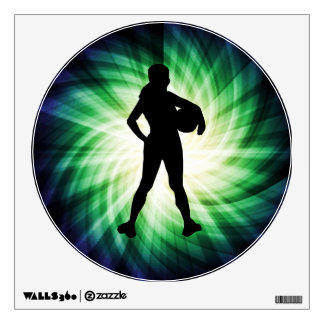 Girl Athlete; Cool Wall Sticker