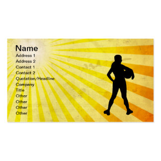 Girl Athlete; yellow Double-Sided Standard Business Cards (Pack Of 100)