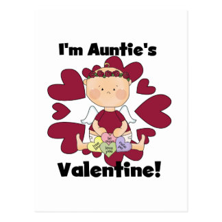 Girl Auntie's Valetine Tshirts and Gifts Postcard