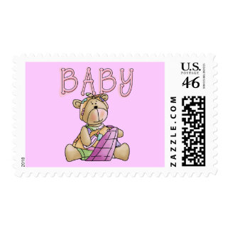 Girl Baby Bear Tshirts and Gifts Stamps