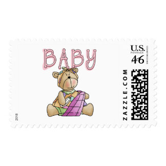 Girl Baby Bear Tshirts and Gifts Postage Stamps