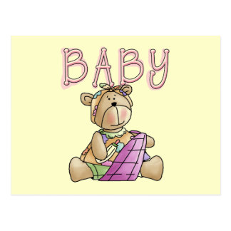 Girl Baby Bear Tshirts and Gifts Postcard